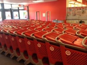 Carts at Target